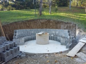 Gradnja odprtega kurišča